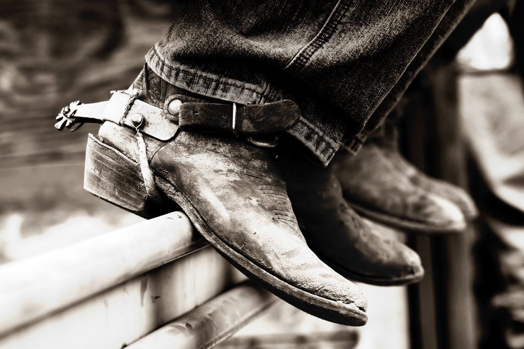 Cowboy boots - the official wear of rodeo